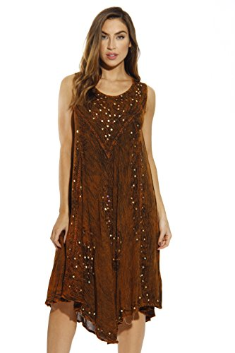 Riviera Sun 21660-RUS-M Dress/Dresses for Women Rust