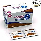 Dynarex 1108 Povidone Iodine Prep Pads (Pack of 100)