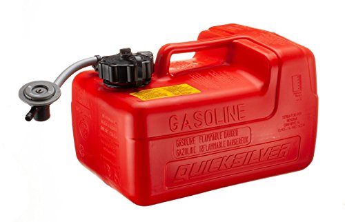 (Quicksilver 8M0045692 Portable Marine Boat Fuel Tank with Fuel Demand Valve, 3.2-Gallon Capacity)