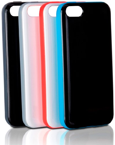 XtremeMac IPP-MLCF-23 Microshield Schutzhülle Schutzhülle für Apple iPhone 5c schwarz/blau