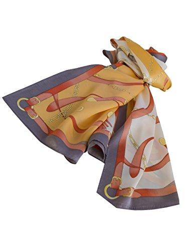 Sciarpa Von Donna Taglia Brigitte Orange Rot Grau Unica Multicolore Boch dEHgqgw