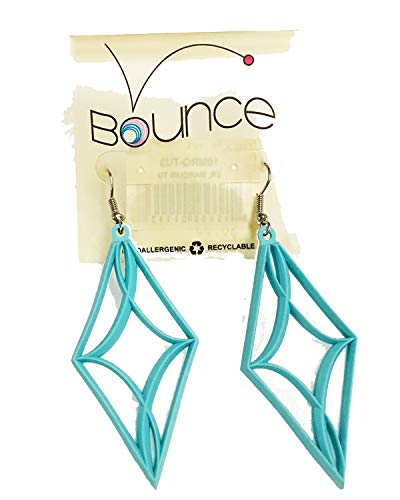 Grass Roots Bounce Marquis Turquoise Earrings