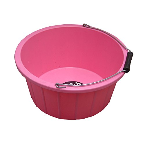 Horse Feed Storage - ProStable Feed Bucket (3 Gallons) (Pink)