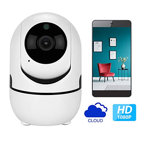 1080p HD IP Camera with Motion Tracker/2-Way Audio/Night Vision/APP Remote Control, 2.4Ghz WiFi Indoor Home Security Dome Camera for Baby Monitor/Elder/Pet Dog/Nanny Smart Camera