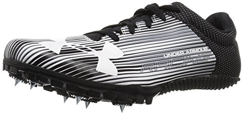 Under Armour Men's Kick Sprint Spike Running Shoe White (100)/Black 12 by Under Armour (Image #1)