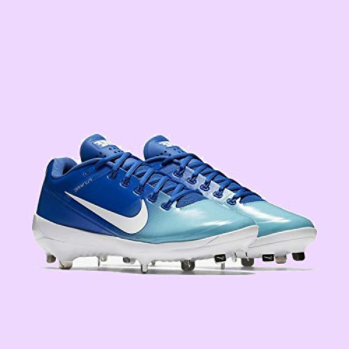 Nike Men's Alpha Max Air Clipper Baseball Softball Cleats Cleated Shoes, Game Royal Blue/Light Aqua Blue/White, Size 10 M -