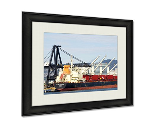 ashley-framed-prints-bulk-carrier-hanjin-liverpool-docked-at-the-port-of-oakland-wall-art-decor-gicl