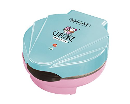 SMART-Cupcake-Maker-Bakery-Electric-Non-Stick-7-Muffins-PinkBlue