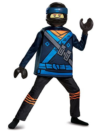 Jay LEGO Ninjago Movie Deluxe Costume, Blue, Medium (7-8)