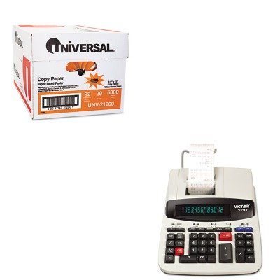 KITUNV21200VCT1297 - Value Kit - Victor 1297 Two-Color Commercial Printing Calculator (VCT1297) and Universal Copy Paper (UNV21200)