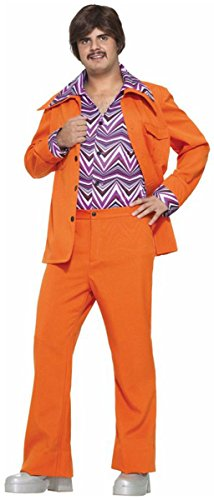 70's Leisure Suit Costume (Morris Costumes Men's LEISURE SUIT 70'S ORANGE, One size)