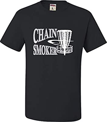 Go All Out Adult Chain Smoker Funny Disc Golf Frolf T-Shirt