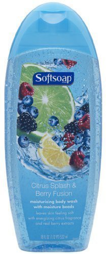 (Softsoap Citrus Splash and Berry Fusion Moisturizing Body Wash, 18 Fluid Ounce (Pack of 6) )