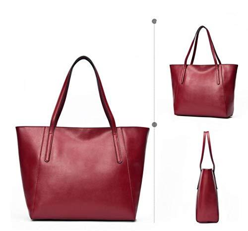 Tamaño color Solo Hombro Elegante Minimalista Red1 Red1 One De Bolsos Versátil Mano Size Bolso Un Zjexjj Iw47qvn