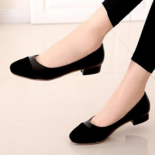 SJJH Slip-on Flats with Mixed Colors and Large for Women Black 1bLYZ3D