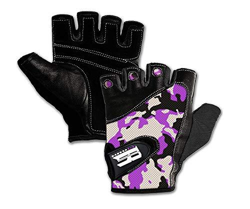 RIMSports Work Out Gloves (Camouflage Purple, XL)