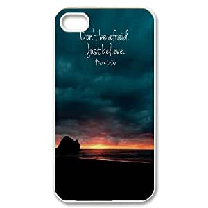 Don't Be Afraid, Just Believe iPhone 4,4S Cover Case, Cheap iPhone 4,4S Cover