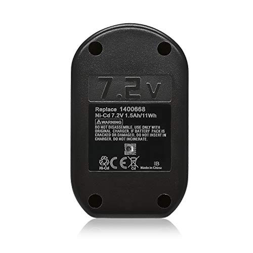 ExpertPower 7.2v 2000mAh NiMh Replacement Battery for Ryobi 1311145 1400668 battery for HP61K, HP721, HP721K, RY721, RY721K2