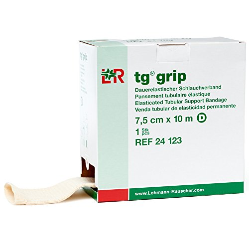 tg Grip Elastic Tubular Compression Bandage, Seamless Tube Stockinette Wrap for Retention, Lymphedema, Swelling, 85% Cotton, Washable & Reusable, Size D