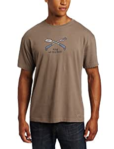 Life is Good Men's Crusher Tee, King of the Grill, Dark Brown, Small