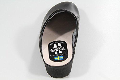 Robuste Clogs mit flexibler Gummisohle in schwarz