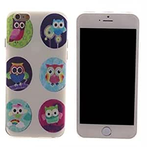 QHY Six Little Owl Design PC Hard Case for iPhone 6