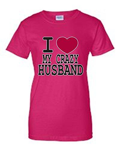 Love Godiva (SHORE TRENDZ Juniors Funny Cute I Love My Crazy Husband Hot Pink T-Shirt (XXL))
