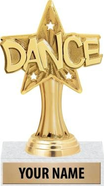 Dance Trophy - 5'' Dance Star Sport Trophies With Custom Engraving 50 Pack