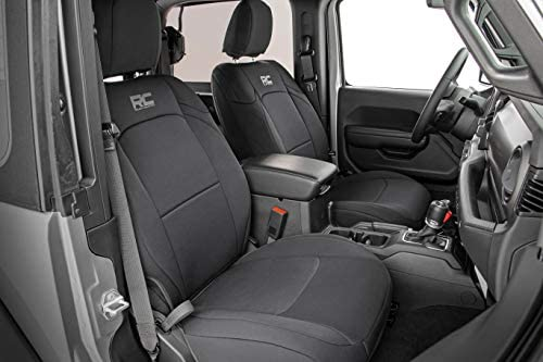 Jeep Wrangler JK 1st//2nd Row Rough Country 91007 Neoprene Seat Covers | fits 2013-2018 2 Door 2DR Water Resistant