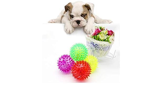 5 bolas de mordida para perros y gatos con luz LED, sensorial ...