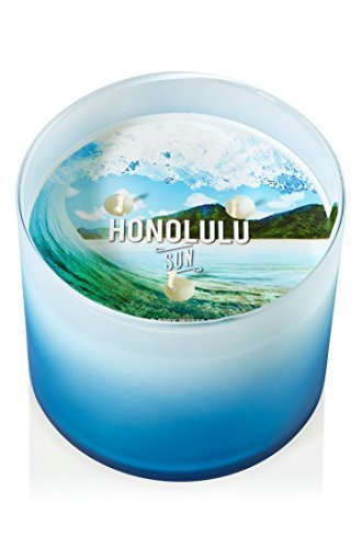 Bath & Body Works Scented 3 Wick Candle 14.5 Oz Honolulu Sun by Bath & Body Works by Bath & Body Works