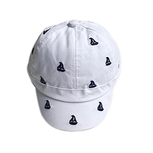 Iuhan Small Sailboat Printing Baby Girls Boys Baseball Caps Summer Hats Caps (White) (Plain Boat Mold)