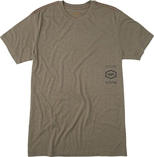 Short Line Inside Sleeve T-shirt (RVCA Men's Hex Lines Short Sleeve T-Shirt, Mushroom, Small)