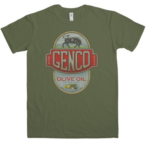 Mens T Shirt   Genco Olive Oil   Olive   Large