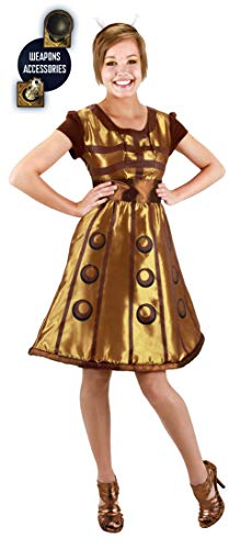 Doctor Who Costumes For Adults (elope Dr. Who Dalek Costume Dress Womens L/XL)