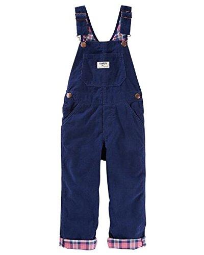Toddler Girl OshKosh B'gosh Plaid-Lined Corduroy Overalls 4T (Corduroy Girls Overalls)