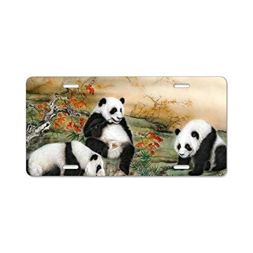 EXMENI 6x12 Inches Home and Bar Wall Decor Car Vehicle License Plate Panda Antivirus Free