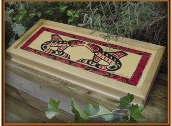 Smoked Pacific Salmon - Wild Pacific Smoked Pink Salmon in 16 oz Wood Gift Box