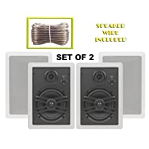 Yamaha Custom Easy-to-install In-Wall Flush Mount 3-Way 150 watts Natural Sound Speaker Set