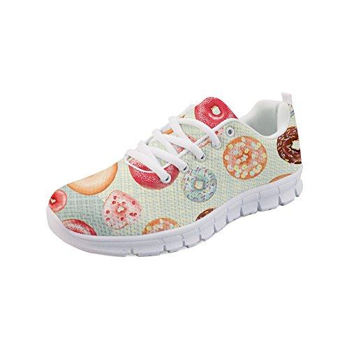 Women Sports Walking for Doughnut Shoes Running Cartoon Coloranimal Flats Nurse Fashion Printed qw7nFZx