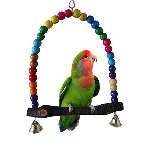Bird Toys Parrot Parakeet Budgie Cockatiel Cage Hammock Swing Hanging Long 30CM Toy