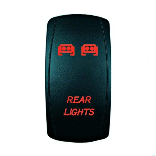 STVMotorsports Laser Red Rocker Switch Rear Lights 20A 12V On/Off Universal LED Lights
