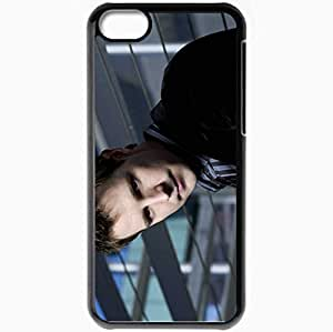 Personalized iPhone 5C Cell phone Case/Cover Skin Ason Dohring Actor Jacket Stylish Dark Black