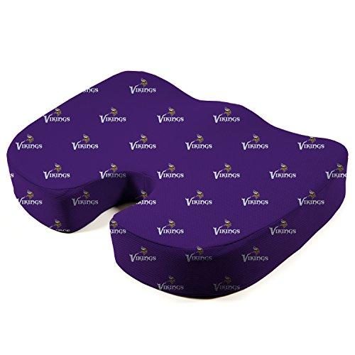 Pegasus Sports NFL Minnesota Vikings Minnesota Vikings Memory Foam Seat Cushion, Purple