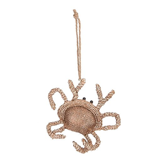 Burlap Look Sea Crab Resin Ornament by Midwest-CBK (Shell Season Soft Crab)
