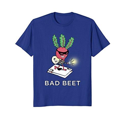 Mens Bad Beet - Funny Bad Beat Poker Pun T-Shirt Large Royal (Bad Beat Poker)