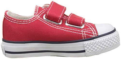 Victoria Garçon Rouge Bébé Baskets Zapato Rojo Velcros rnWqrUI