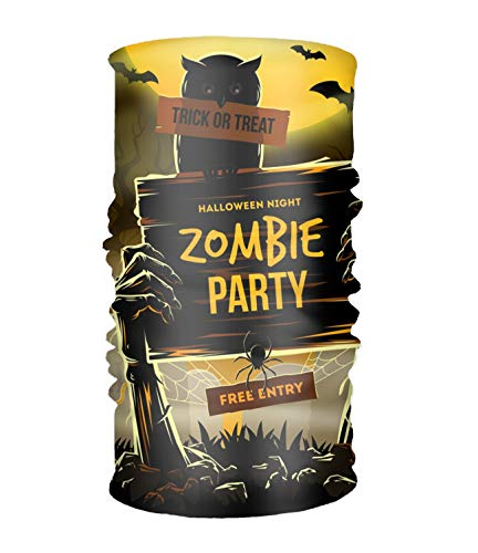 Multifunctional Headwear, Scarf, Shawl, Neck Scarf, Headscarf, Versatile and Clever, Various designs Halloween Invitation To Zombie Party ()