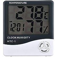 Digital LCD Thermometer Hygrometer Temperature Humidity Meter Gauge Clock