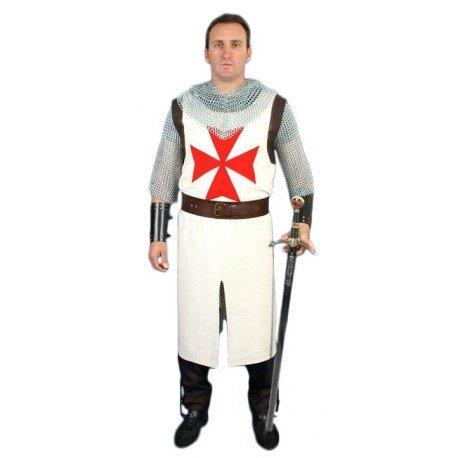 Traje Caballero Templario Hugues de Payens cruz bordada: Amazon.es ...
